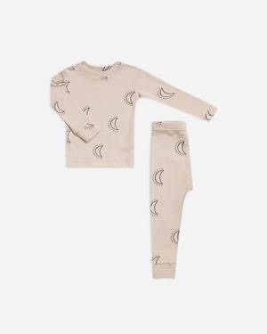 RYLEE AND CRU Baby Moons Pajama Set