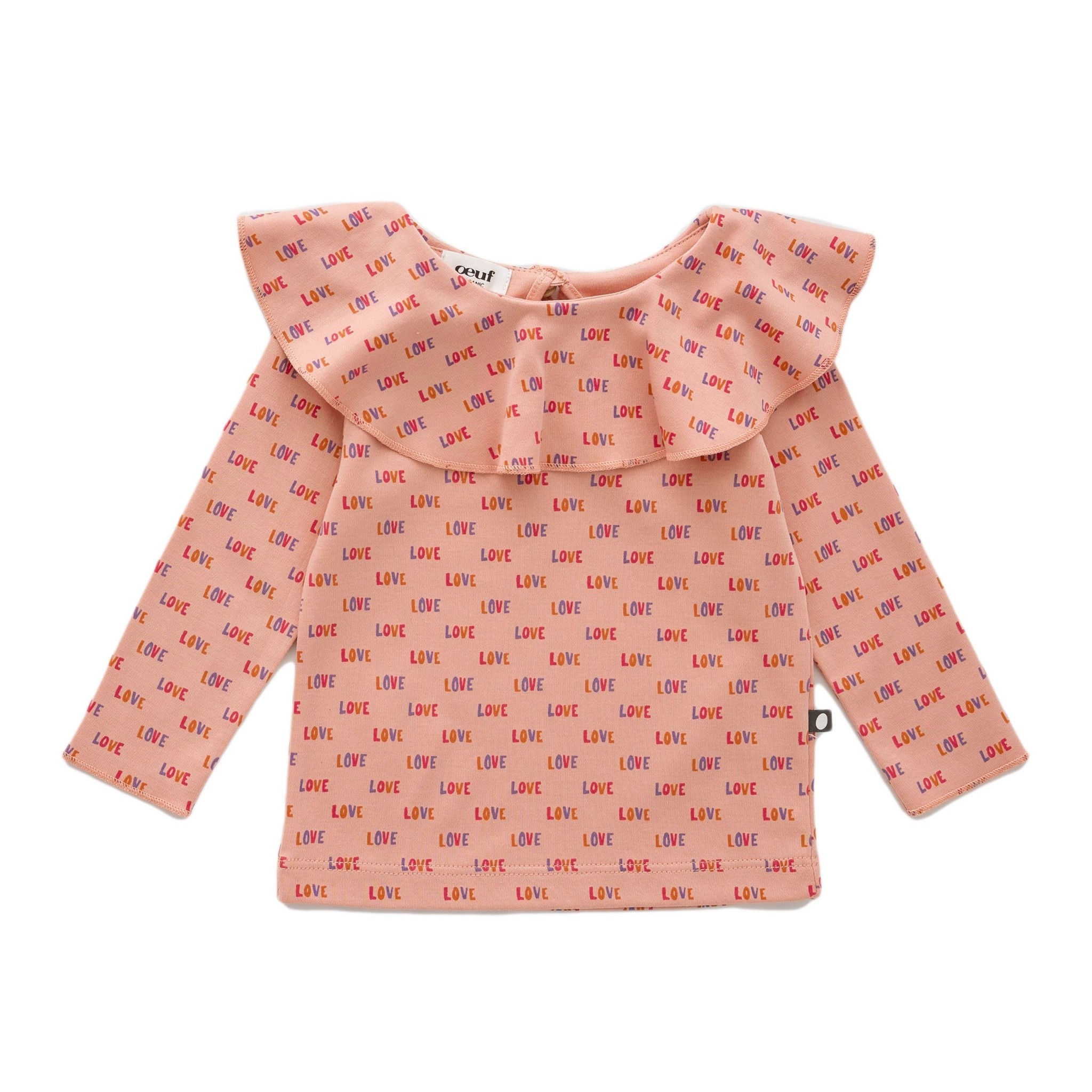 OEUF Ruffle Collar Shirt