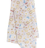 LOULOU LOLLIPOP Breakfast Pink Muslin Swaddle