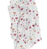 LOULOU LOLLIPOP Rosey Bloom Muslin Swaddle