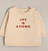 Organic Zoo Life Is A Picnic Baby Sweatshirt
