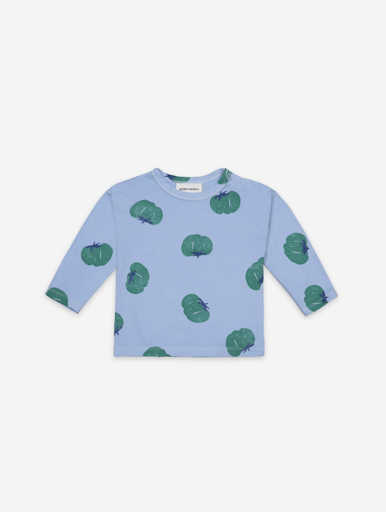 BOBO CHOSES Tomatoes All Over Long Sleeve Baby T-shirt