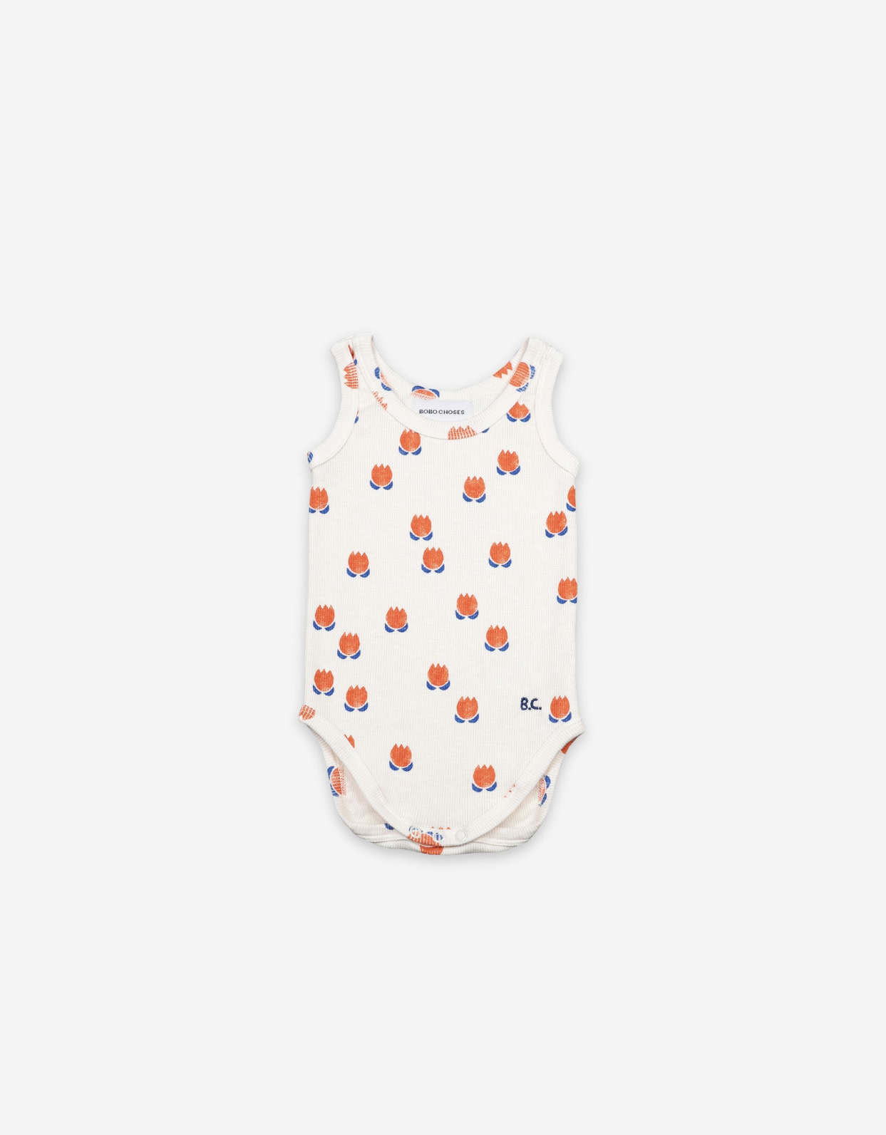 BOBO CHOSES Chocolate Flowers All Over Baby Onesie