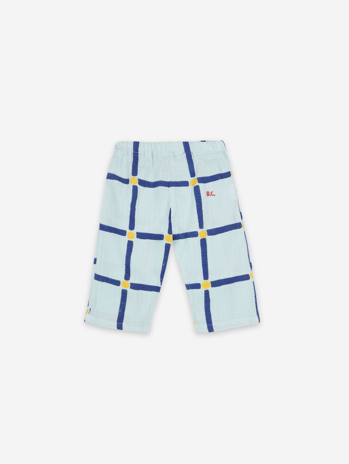 BOBO CHOSES Cube All Over Woven Baby Trousers