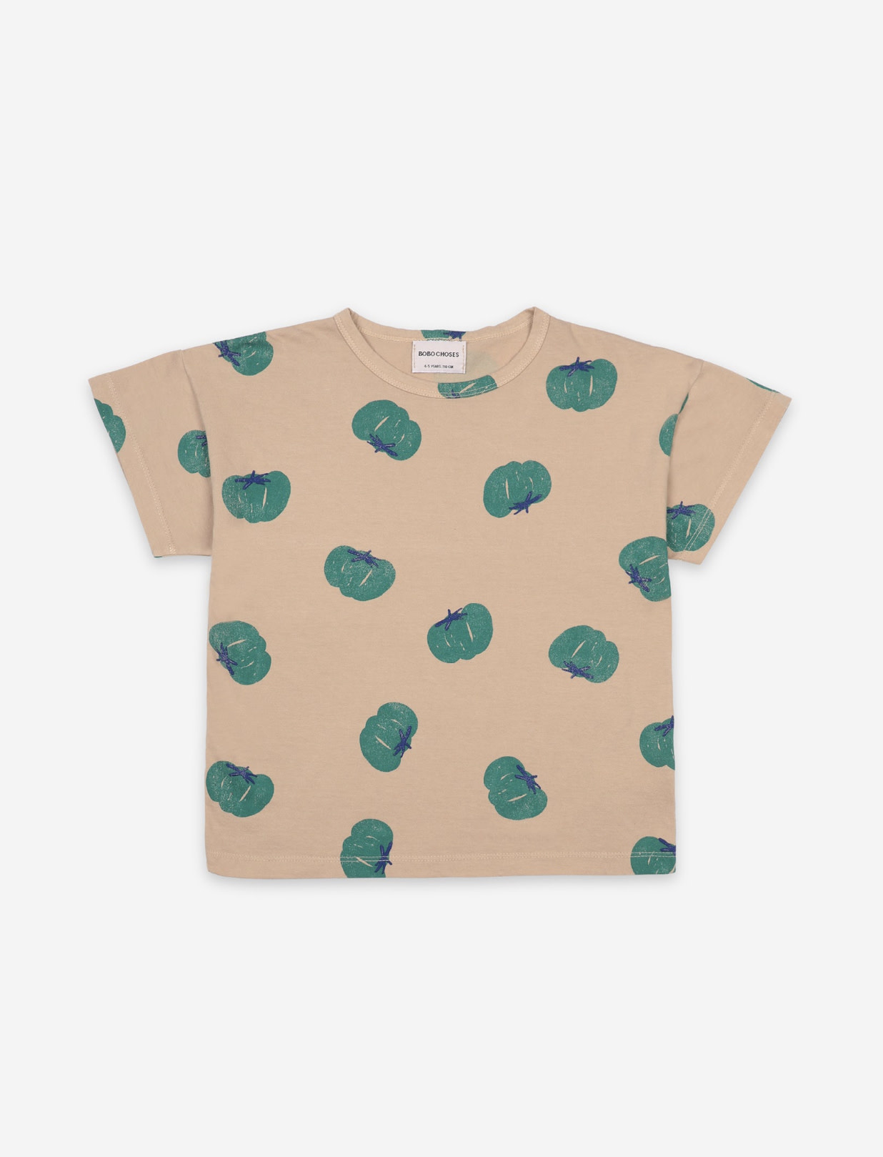 BOBO CHOSES Tomatoes All Over Short Sleeve Tshirt