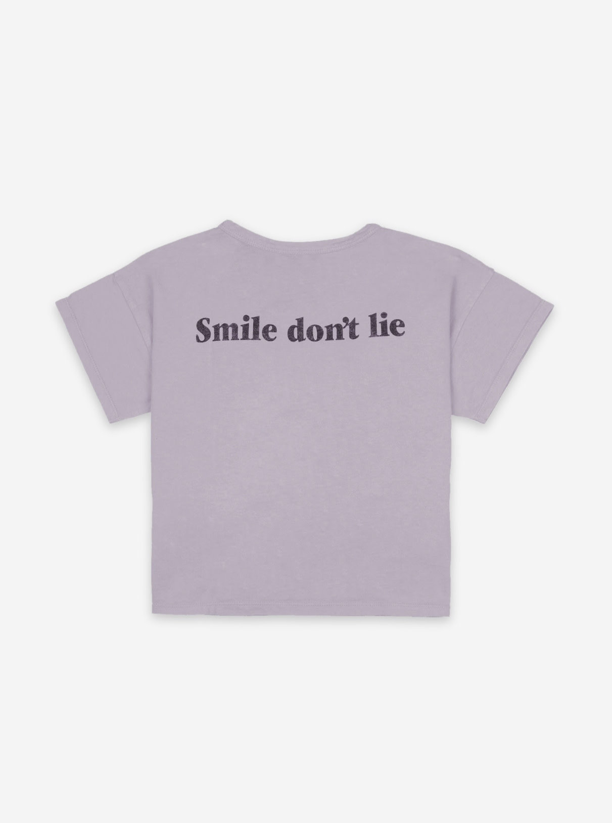 BOBO CHOSES Big Smile Lilas Short Sleeve Tshirt