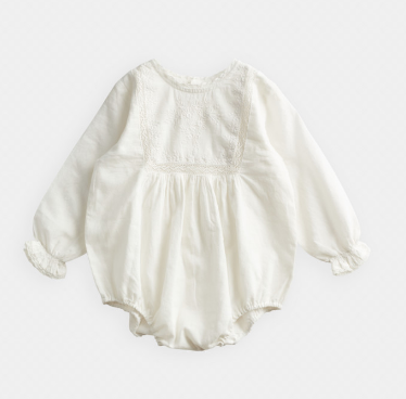 BELLE ENFANT Lace And Embroidery Romper