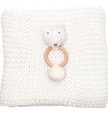 Zestt Organics Soft White + Bear Comfy Knit Baby Gift Set