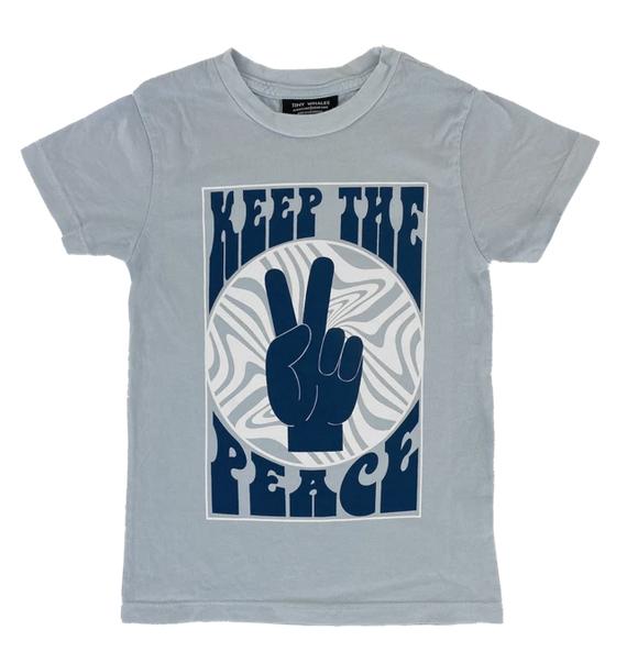TINY WHALES Keep The Peace Tee
