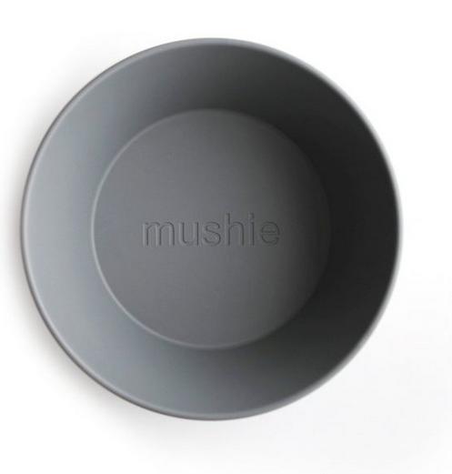 MUSHIE Set of 2 Round Dinnerware Plates - Smoke