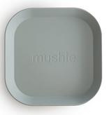 MUSHIE Set Of 2 Square Dinnerware Plates - Sage