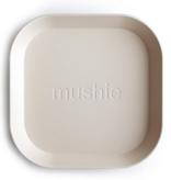 MUSHIE Set Of 2 Square Dinnerware Plates - Ivory
