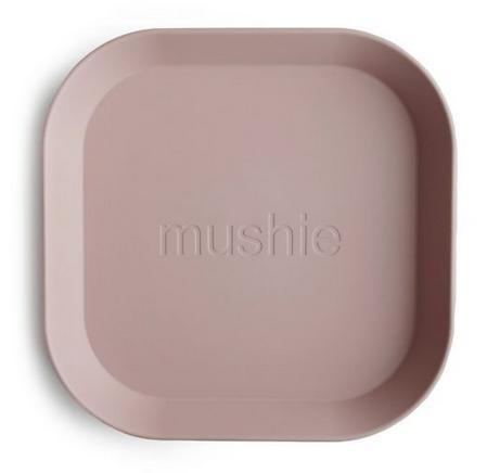MUSHIE Set Of 2 Square Dinnerware Plates - Blush