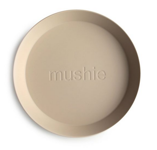 MUSHIE Set Of 2 Round Dinnerware Plates - Vanilla