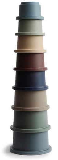 MUSHIE Stacking Cups Toy - Forest