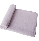 MUSHIE Organic Muslin Swaddle Blanket - Soft Mauve