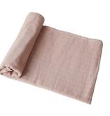 MUSHIE Organic Muslin  Swaddle Blanket - Blush