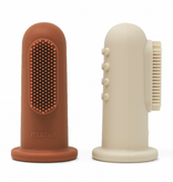 MUSHIE Finger Toothbrush - Clay / Shifting Sand