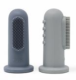 MUSHIE Finger Toothbrush - Tradewinds / Stone
