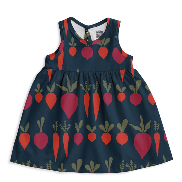 WINTER WATER FACTORY Root Vegetables Oslo Baby Dress