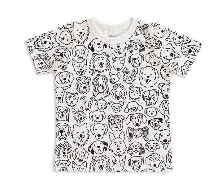 WINTER WATER FACTORY Dogs Short Sleeve Tee