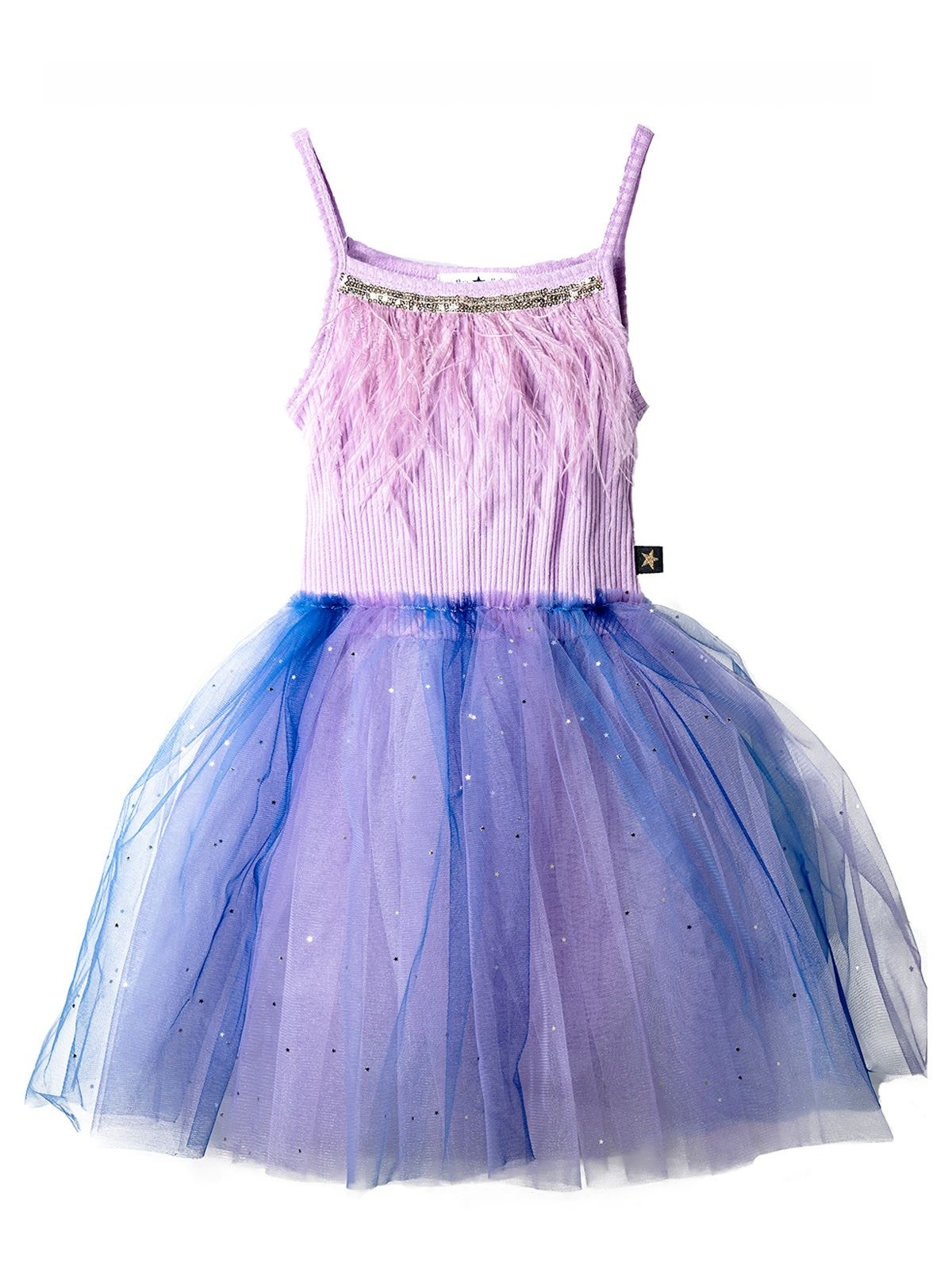 PETITE HAILEY Fur Gra Tutu Dress