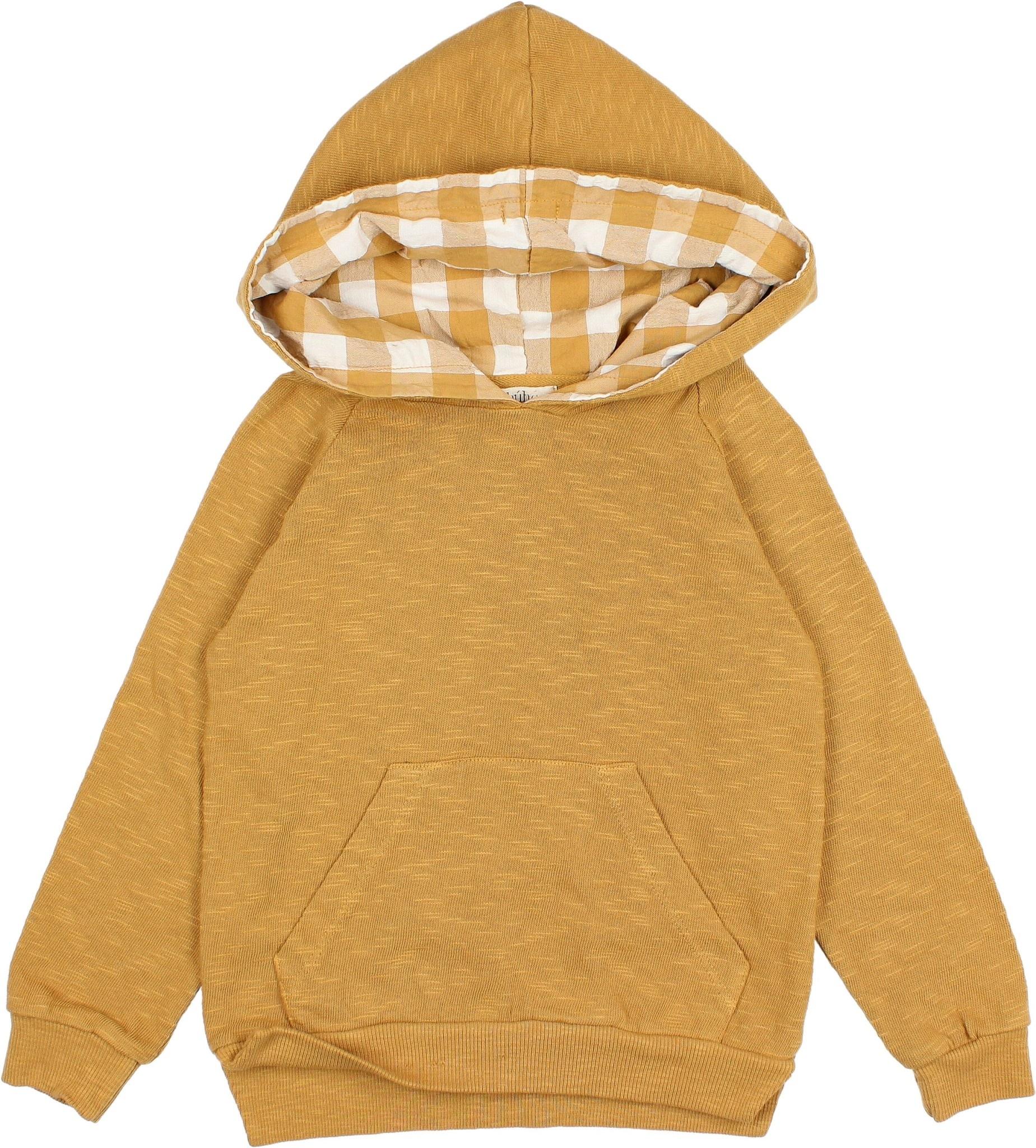 BUHO Gingham Hood Sweater