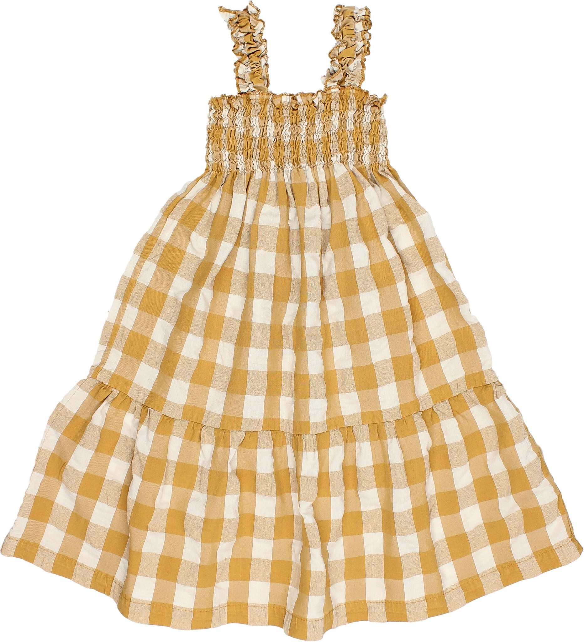 BUHO Gingham Seersucker Dress