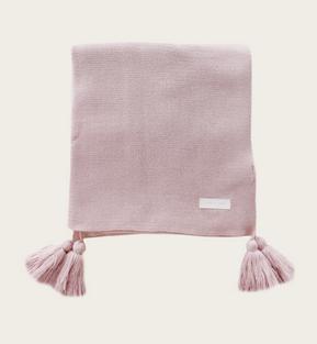 JAMIE KAY Old Rose Tassel Blanket