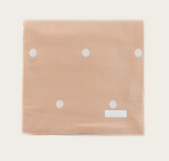JAMIE KAY Honey Peach Polka Dot Blanket