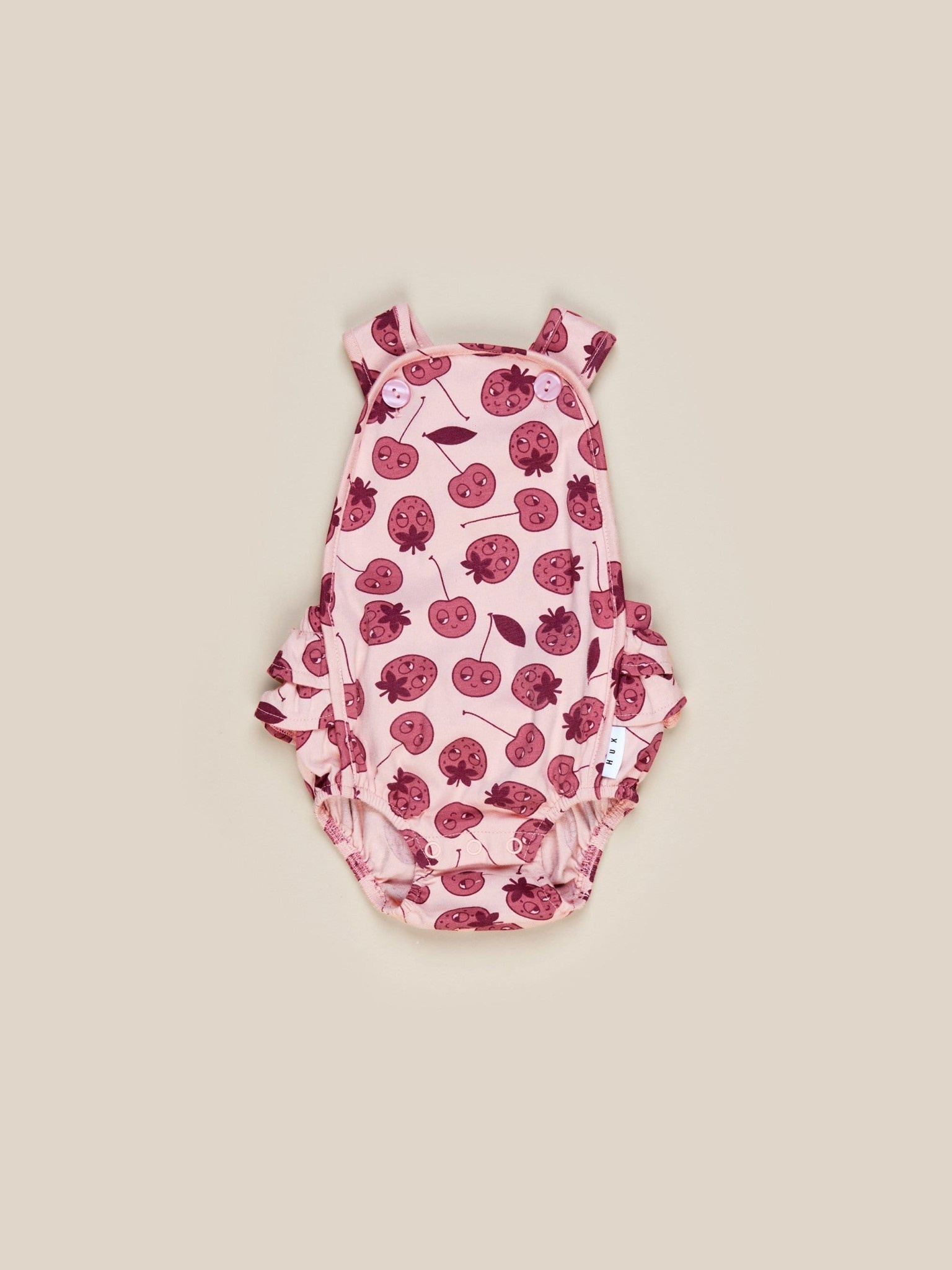 HUX BABY Berry Frill Playsuit