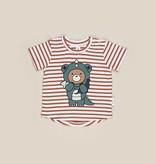 HUX BABY Dino Bear Stripe T-shirt