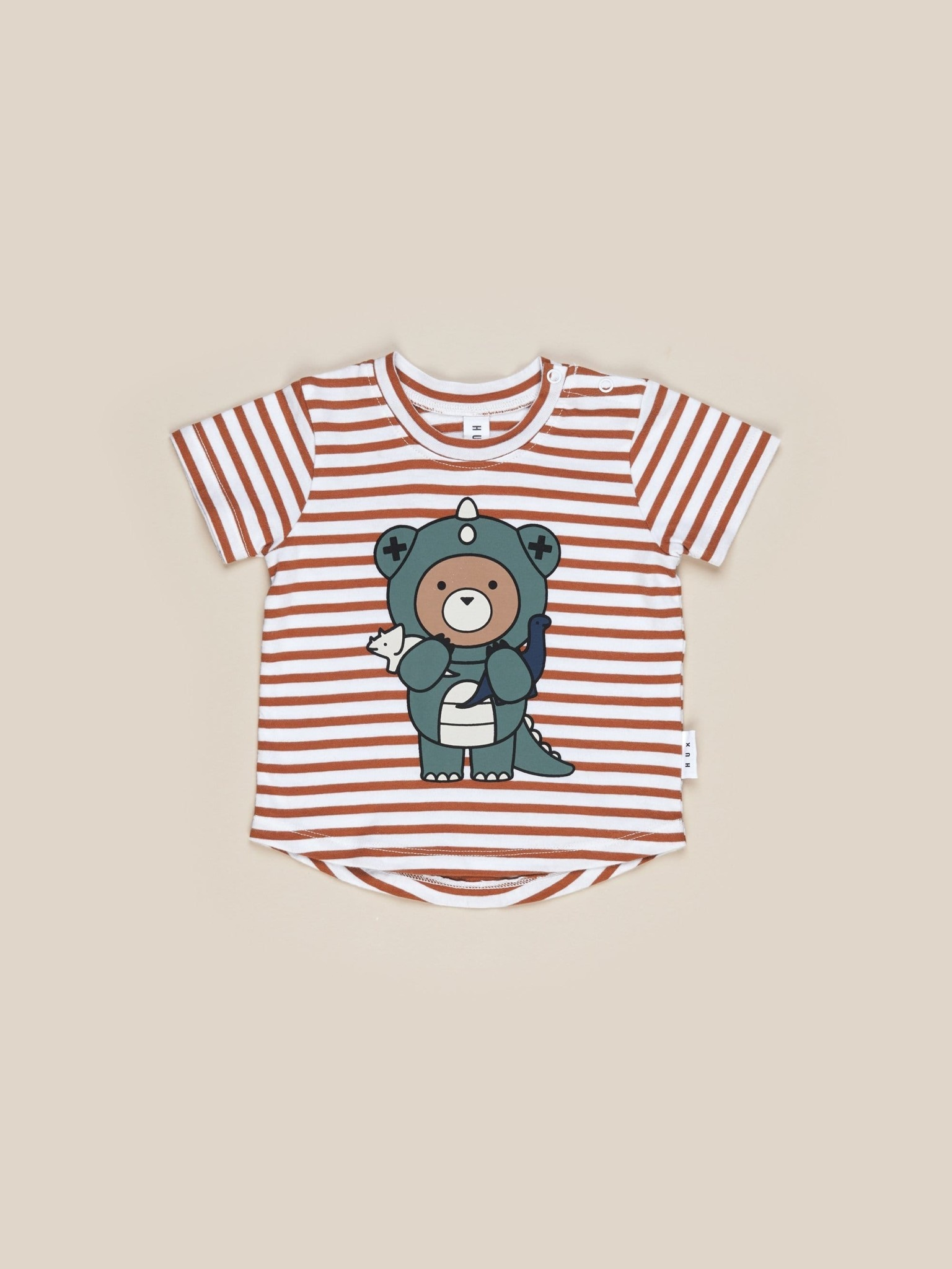 HUX BABY Dino Bear Stripe T-shirt