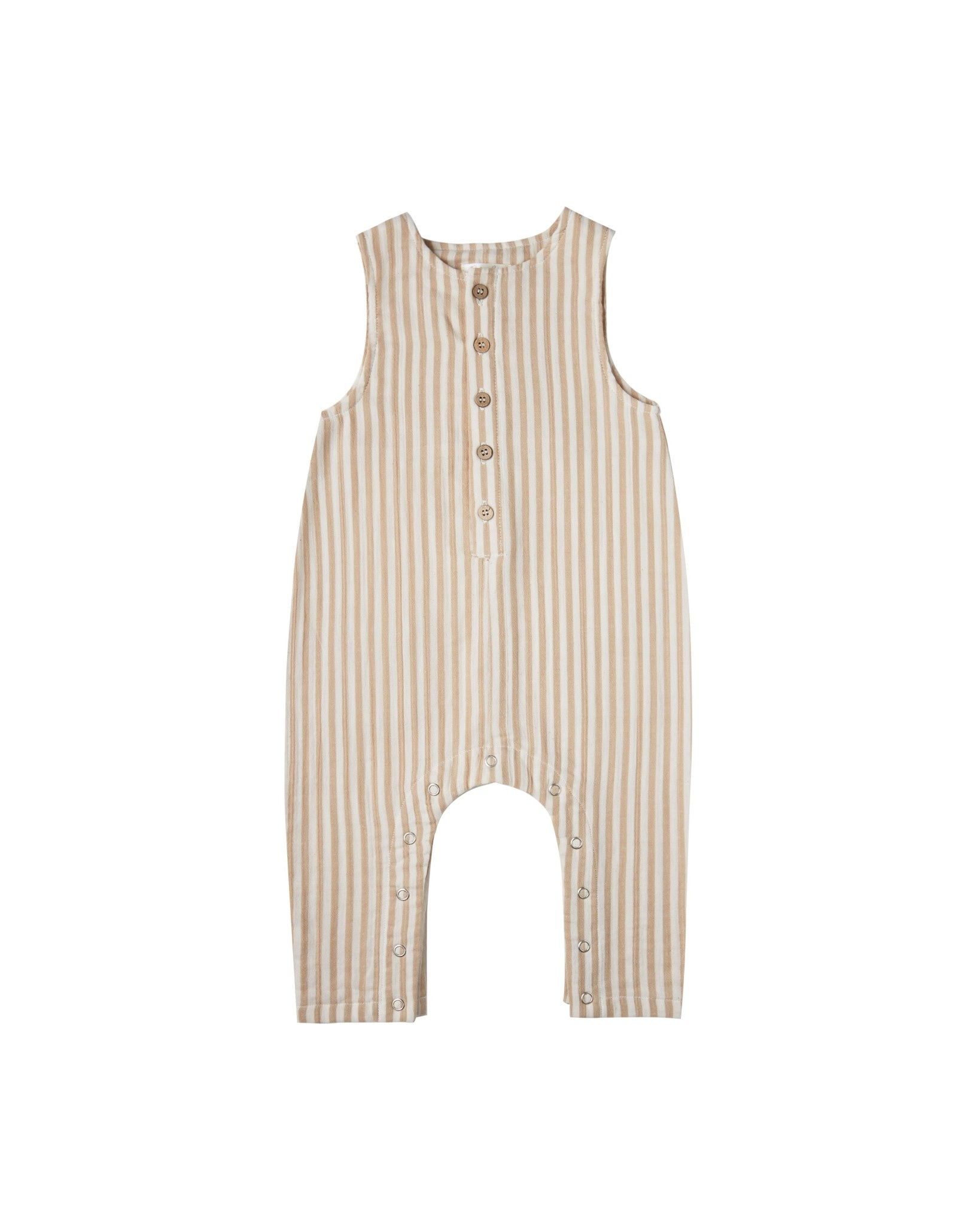 RYLEE AND CRU Striped Button Jumpsuit