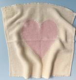 Estella Lovey Blanket - Pink Heart