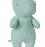 MAILEG Safari Friends, Small Hippo - Aqua