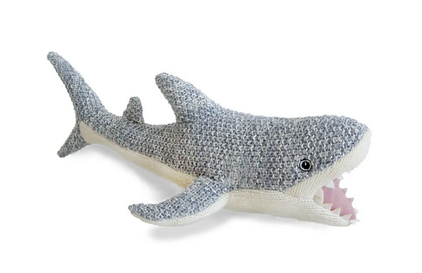 MON AMI Seymour Shark Knit Stuffed Animal