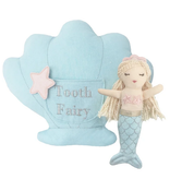 MON AMI Mimi Blue Mermaid Tooth Fairy Pillow and Doll Set
