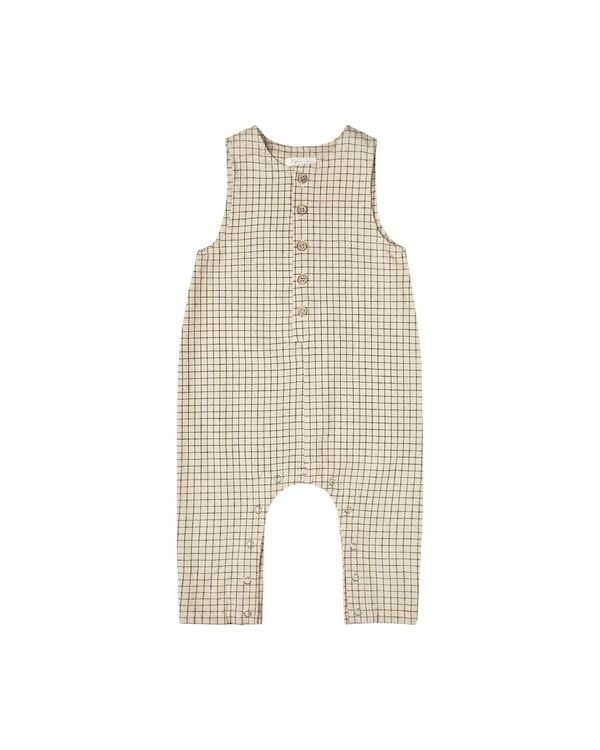 RYLEE AND CRU Grid Button Jumpsuit