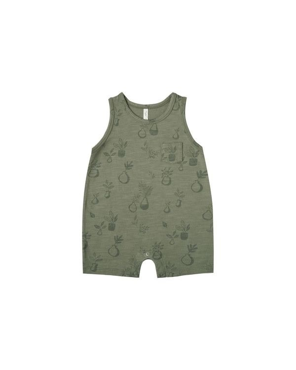 RYLEE AND CRU Potted Plants Sleeveless Onepiece