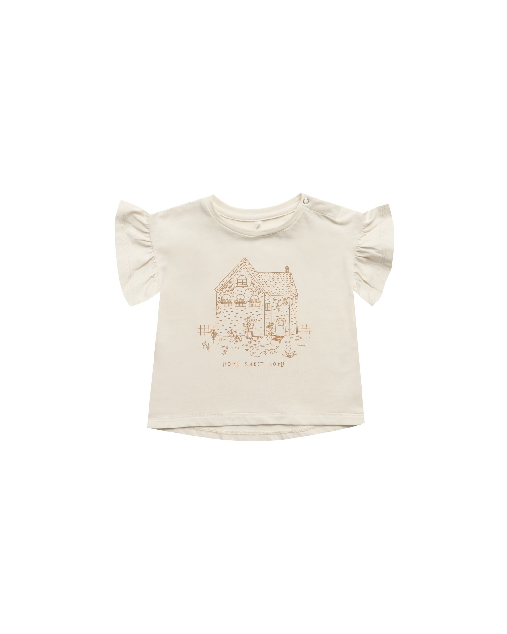 RYLEE AND CRU Home Sweet Home Baby Flutter Tee