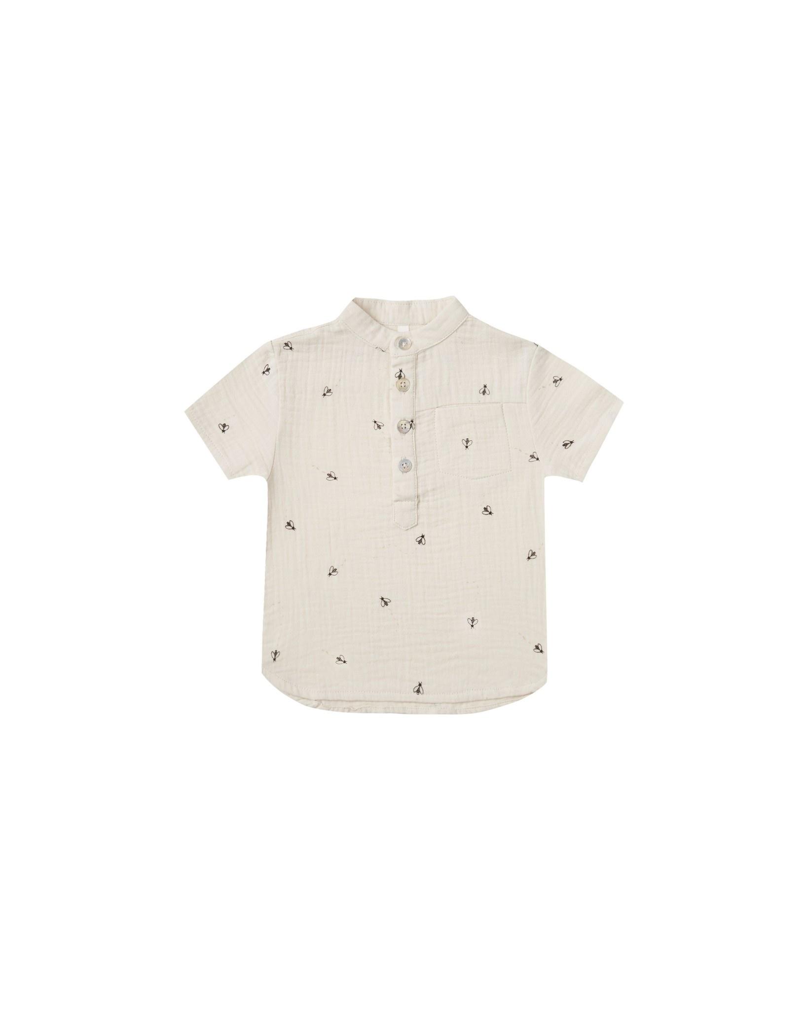 RYLEE AND CRU Bees Short Sleeve Mason Shirt