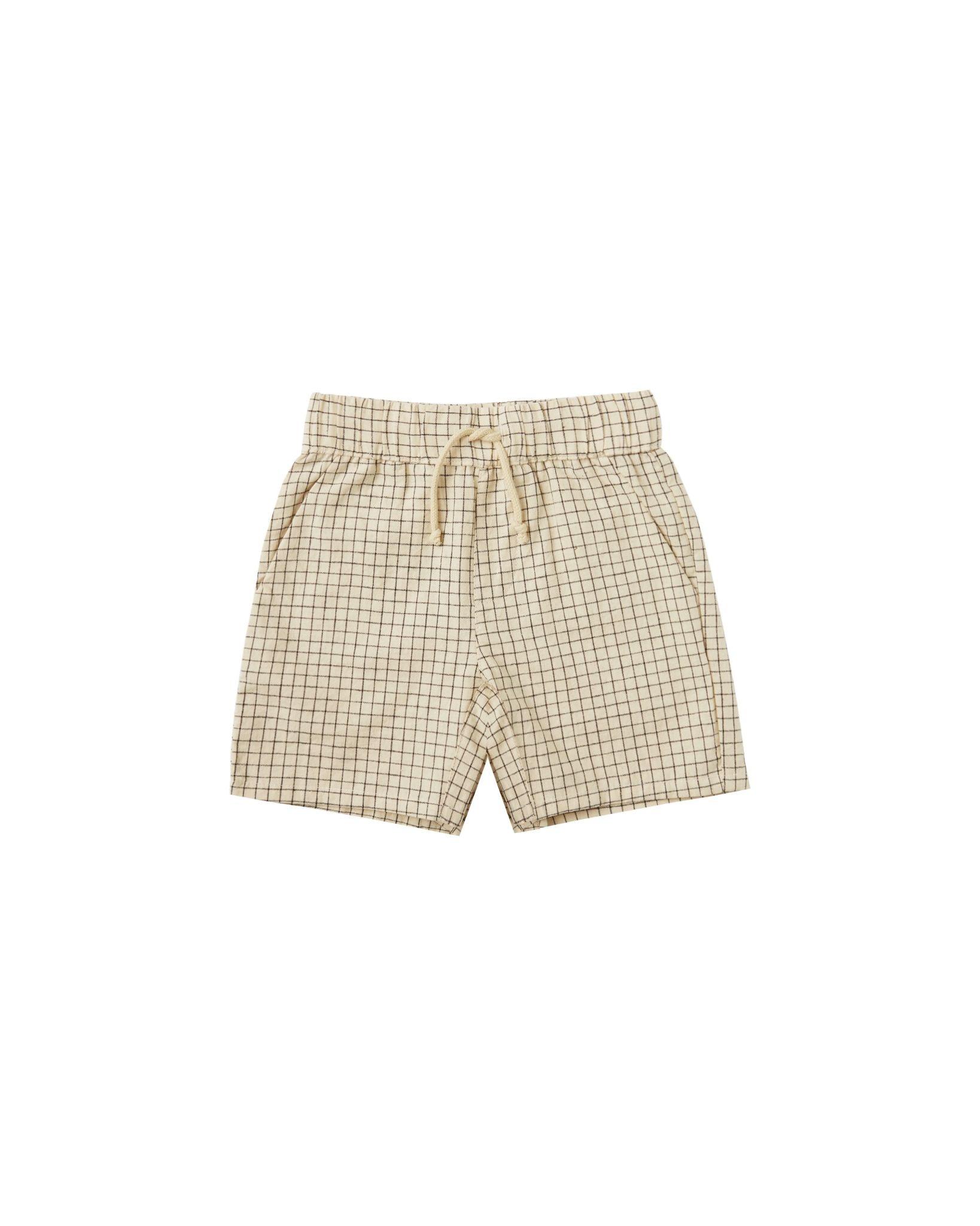 RYLEE AND CRU Grid Bermuda Shorts