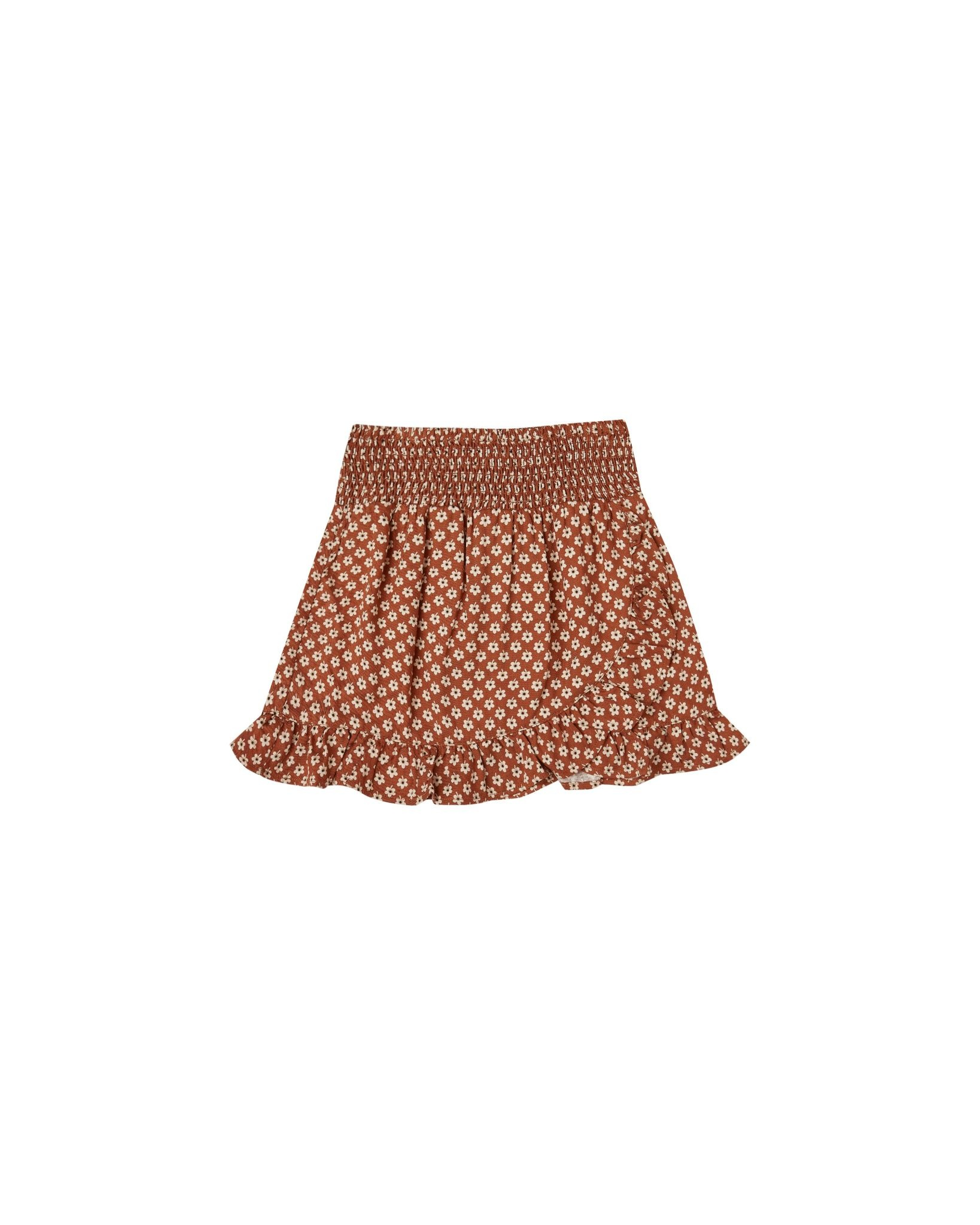 RYLEE AND CRU Flower Power Wrap Ruffle Skirt