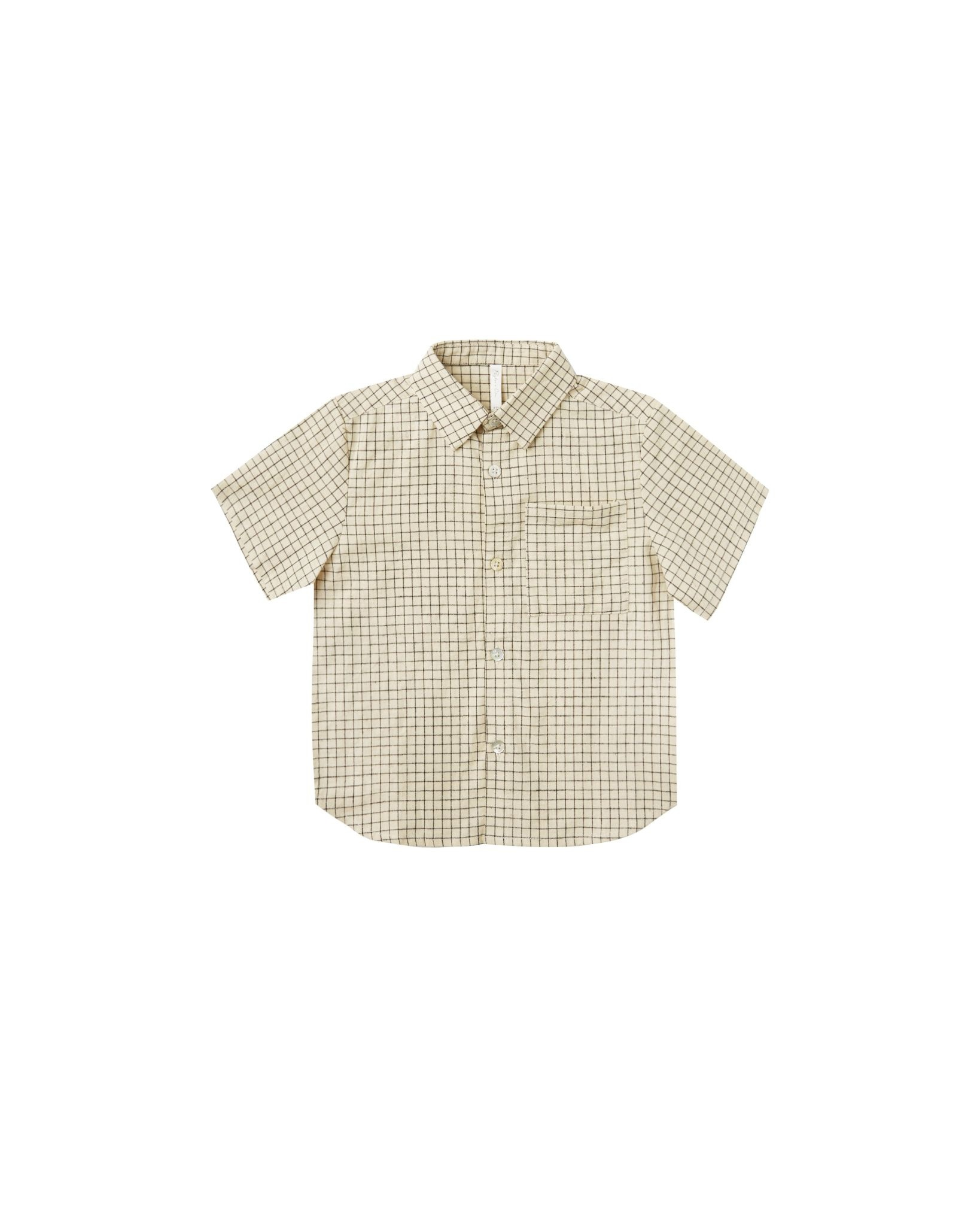 RYLEE AND CRU Grid Collared Shirt
