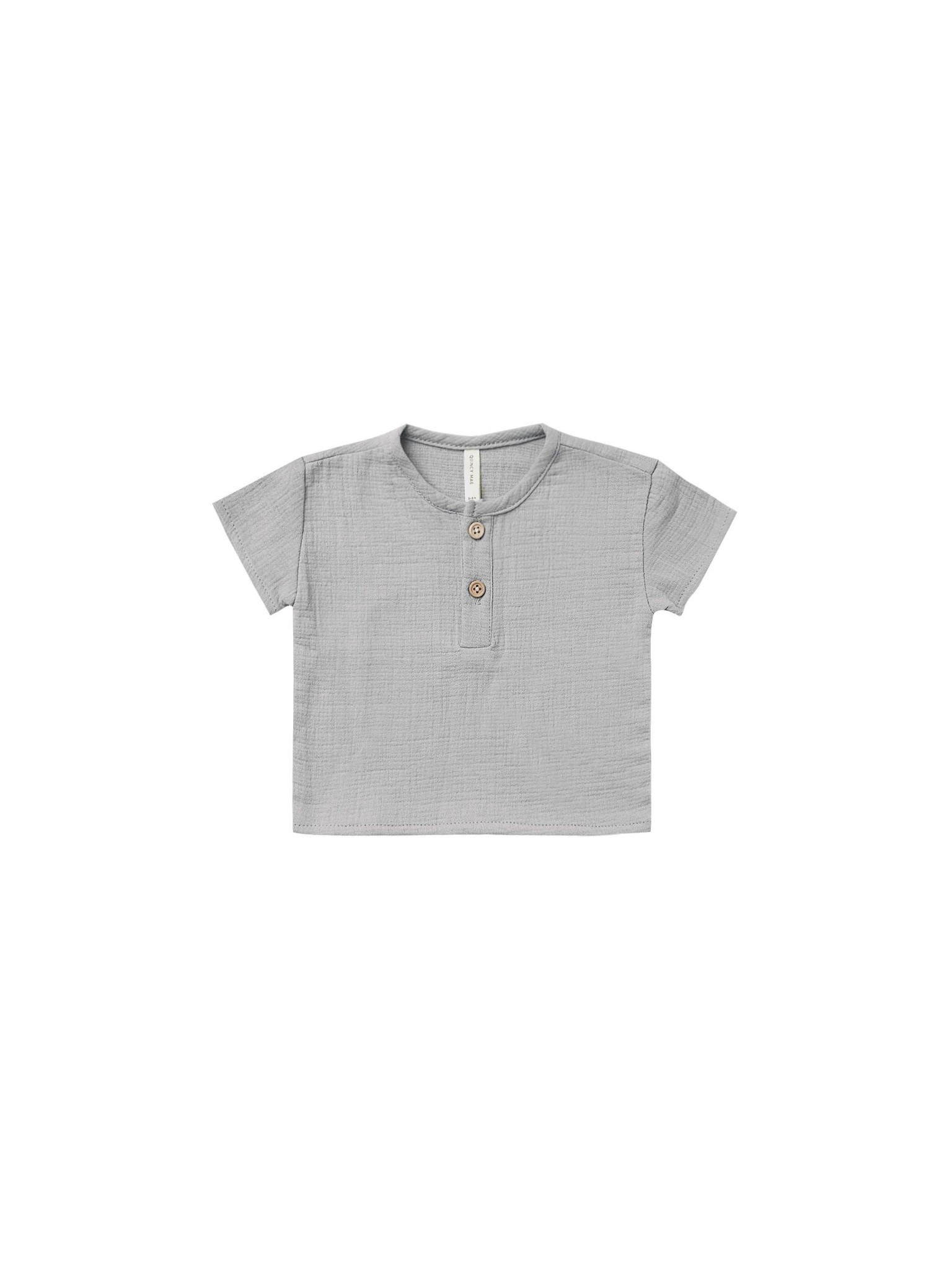 QUINCY MAE Woven Henry Top