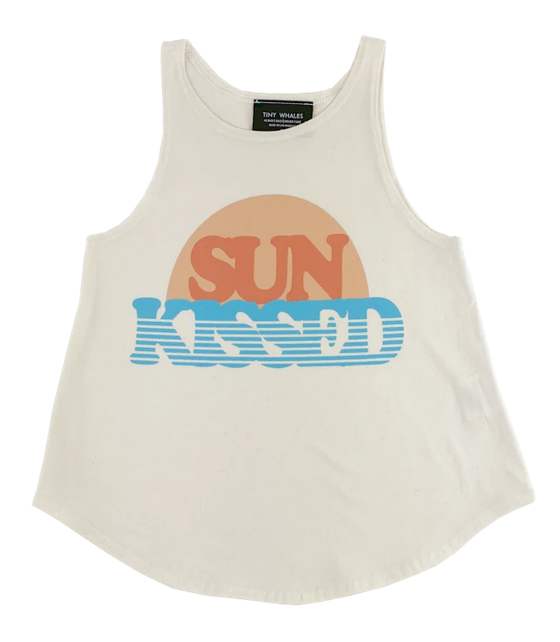 TINY WHALES Sun Kissed Flowy Tank