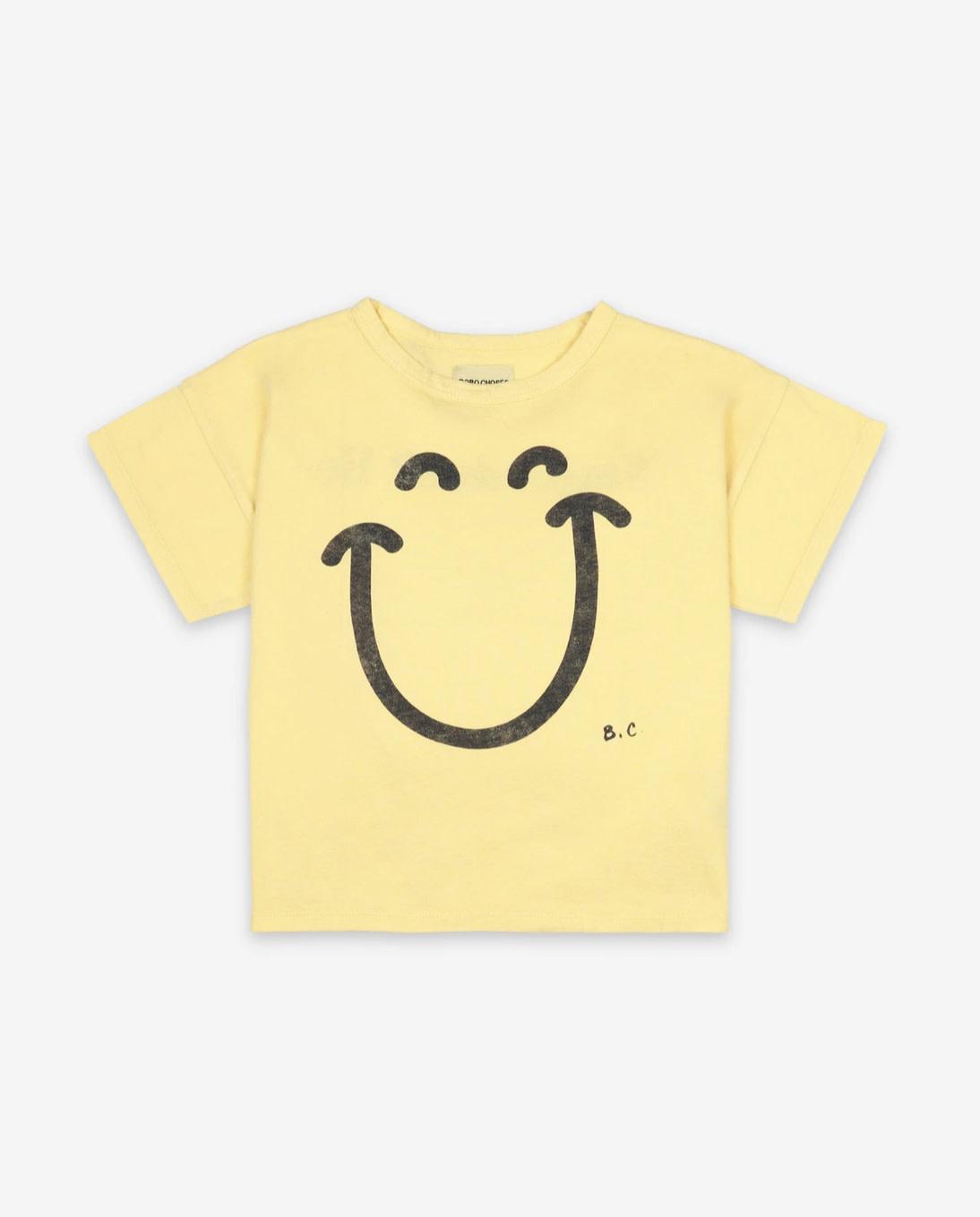 BOBO CHOSES Big Smile Short Sleeve Baby Tee