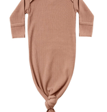 QUINCY MAE Ribbed Knotted Baby Gown