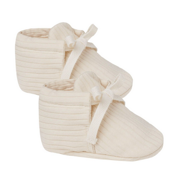 QUINCY MAE Ribbed Baby Booties